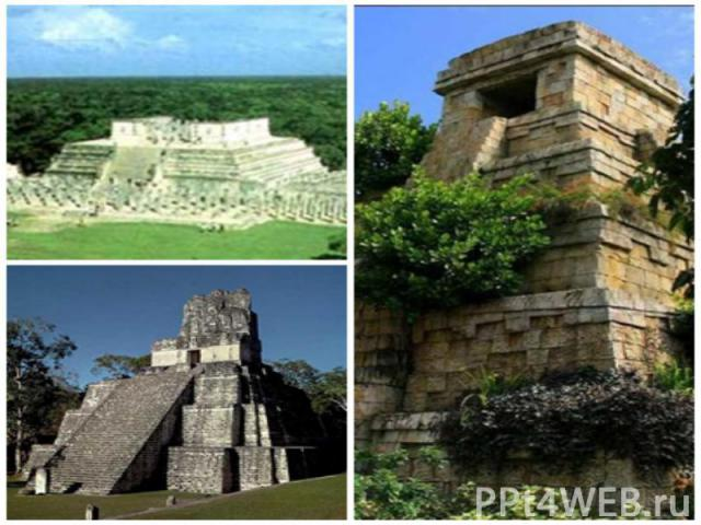 Ruins of over 100citiec the largest Tikal, Uxmal, Mayanpan were kept