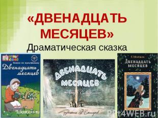 «ДВЕНАДЦАТЬ МЕСЯЦЕВ» Драматическая сказка