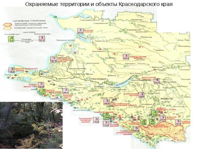 Охраняемые территории и объекты Краснодарского края
