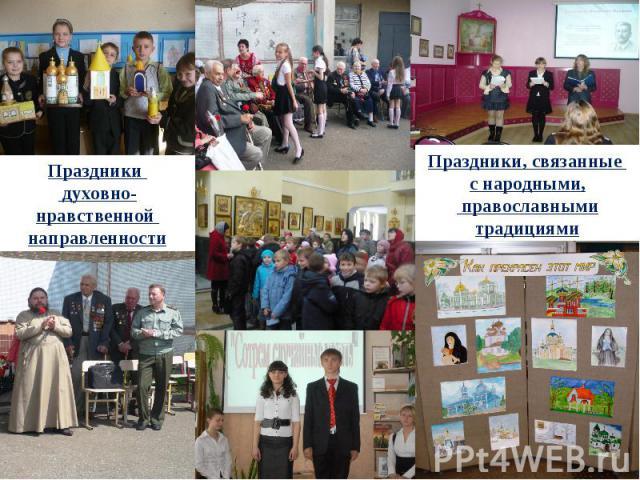 Праздники духовно-нравственной направленности Праздники, связанные с народными, православными традициями