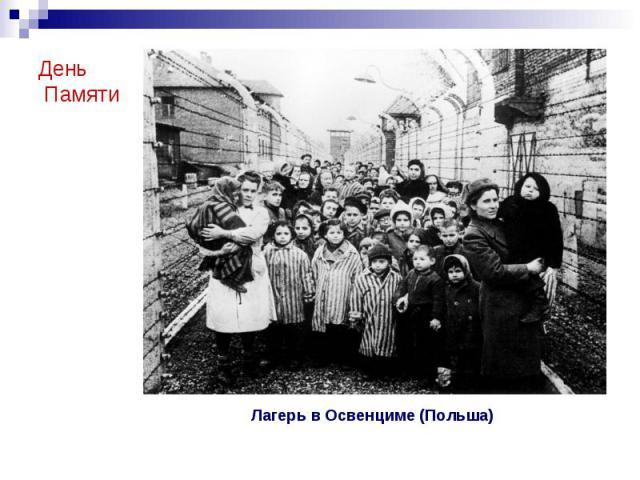 День Памяти Лагерь в Освенциме (Польша)