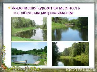 Живописная курортная местность с особенным микроклиматом.