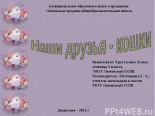 муниципальное образовательное учреждение Ломовская средняя общеобразовательная ш