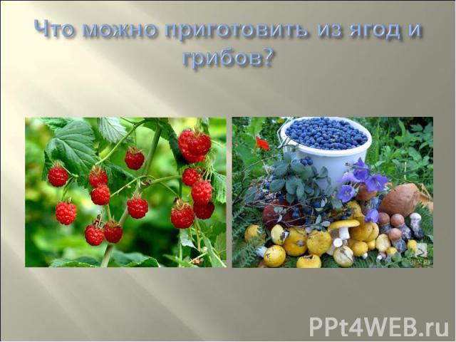 Что можно приготовить из ягод и грибов?