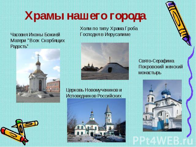 Храмы нашего города Часовня Иконы Божией Матери
