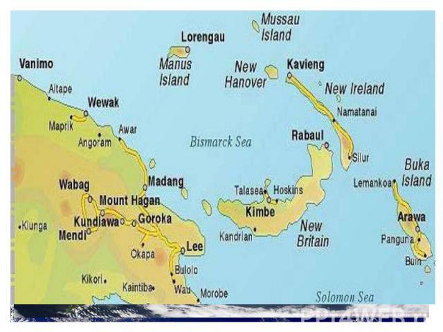 Происхождение островов 2 материковые: Новая Каледония, Новая Зеландия и Новая Гвинея . . В прошлом эти острова представляли собой единую сушу, однако в результате поднятия уровня Мирового океана значительная часть поверхности оказалась под водой.