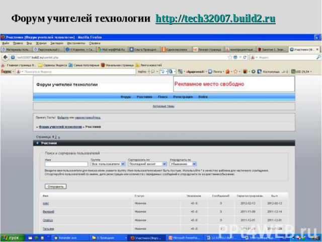 Форум учителей технологии http://tech32007.build2.ru