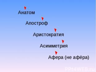 Афера (не афёра)
