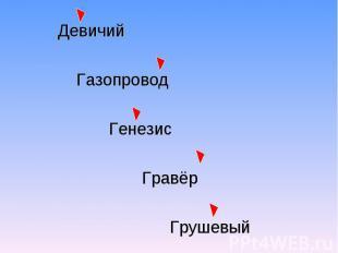 Девичий Газопровод Генезис Гравёр Грушевый