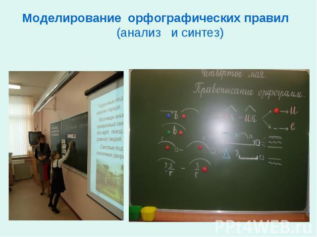 Моделирование орфографических правил (анализ и синтез)