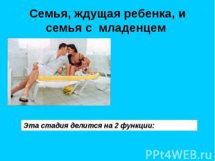 Семья, ждущая ребенка, и семья с младенцем Эта стадия делится на 2 функции:
