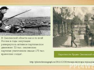 В Смоленской области как и по всей России в годы оккупации развернулось активное