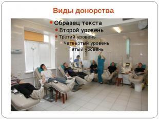 Виды донорства