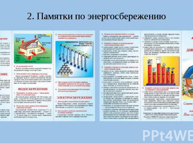 2. Памятки по энергосбережению