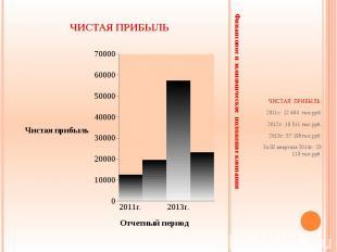 Финансовое и экономическое положение компании ЧИСТАЯ ПРИБЫЛЬ: 2011г.: 12 464 тыс