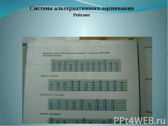 Система альтернативного оценивания Система альтернативного оценивания Рейтинг