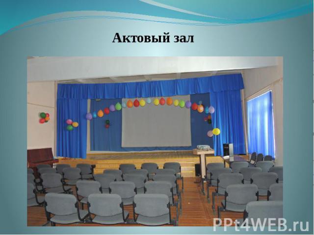 Актовый зал Актовый зал