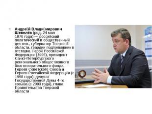 Андре й Влади мирович Шевелёв (род. 24 мая 1970года)— российский пол