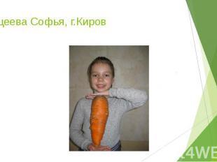 Кощеева Софья, г.Киров