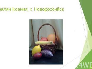 Паралян Ксения, г. Новороссийск