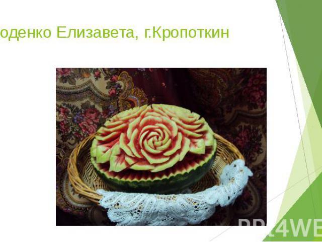 Заходенко Елизавета, г.Кропоткин