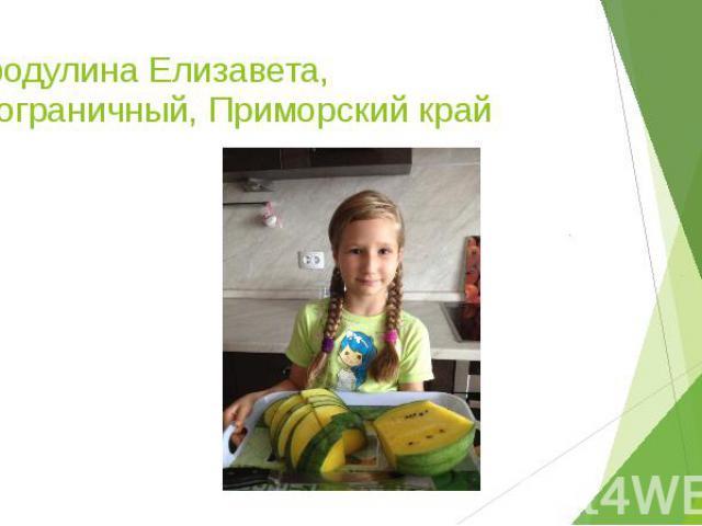Бородулина Елизавета, п.Пограничный, Приморский край