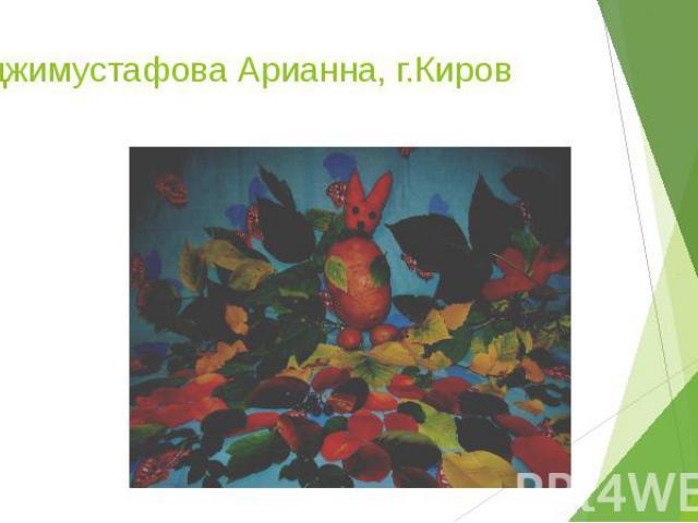 Хаджимустафова Арианна, г.Киров