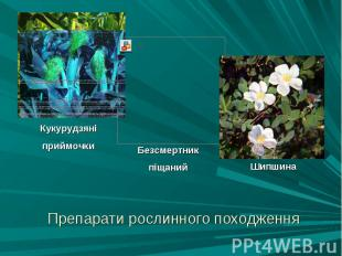 Препарати рослинного походження Препарати рослинного походження