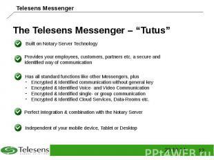 """The Telesens Messenger – """"Tutus"""""""