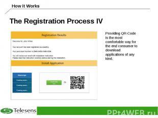 The Registration Process IV