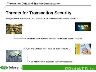Threats for Transaction Security