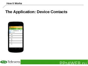 The Application: Device Contacts