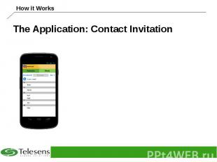 The Application: Contact Invitation