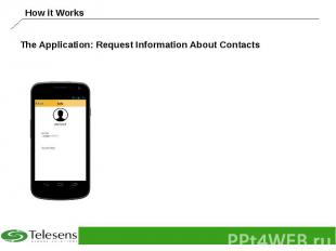 The Application: Request Information About Contacts