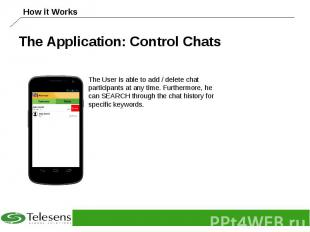 The Application: Control Chats