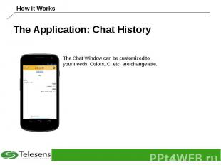 The Application: Chat History