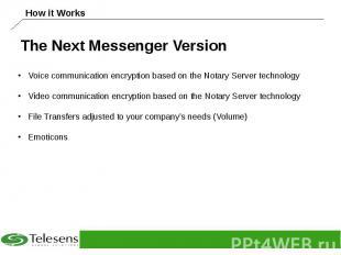 The Next Messenger Version