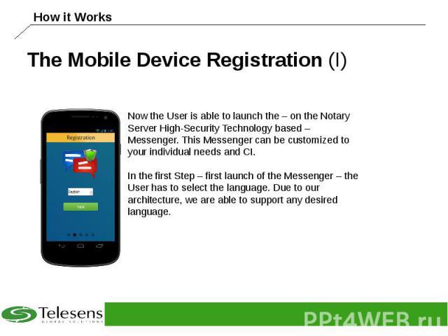 The Mobile Device Registration (I)