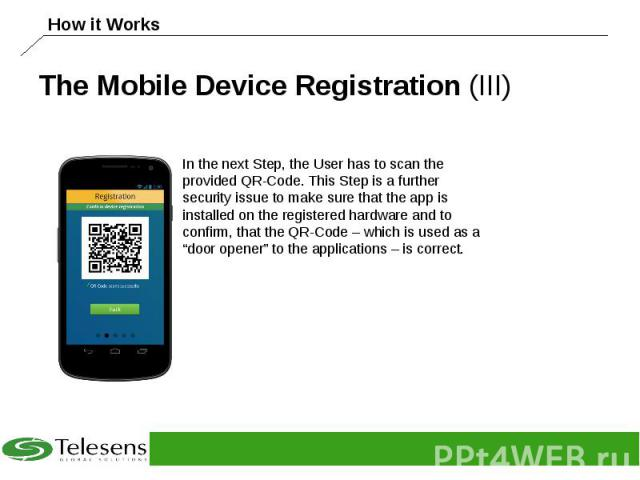 The Mobile Device Registration (III)