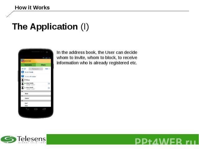 The Application (I)