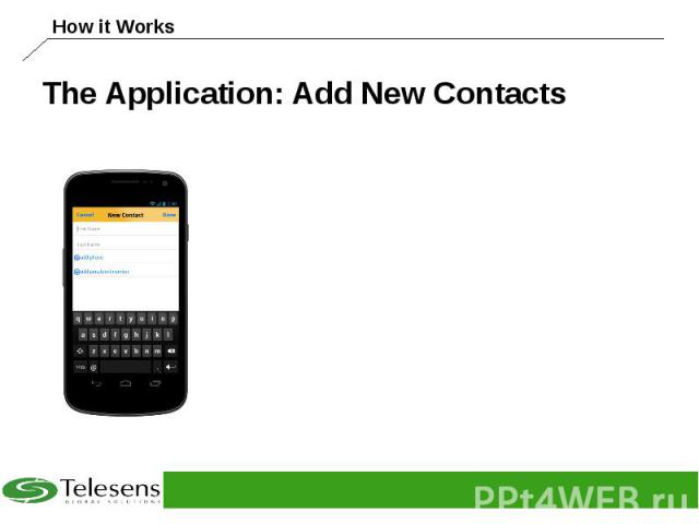 The Application: Add New Contacts