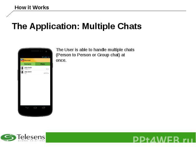 The Application: Multiple Chats