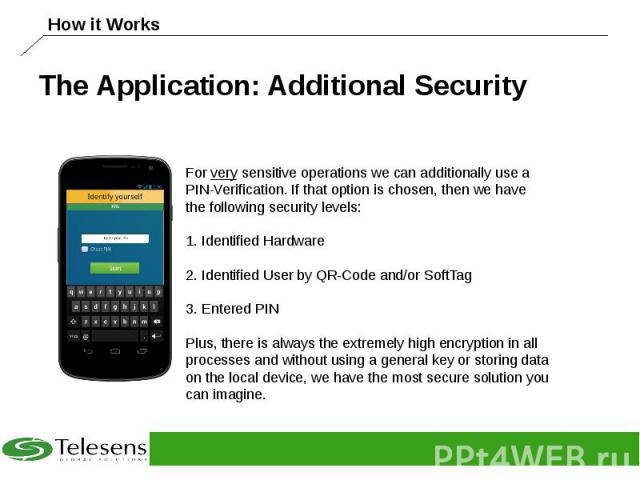 The Application: Additional Security