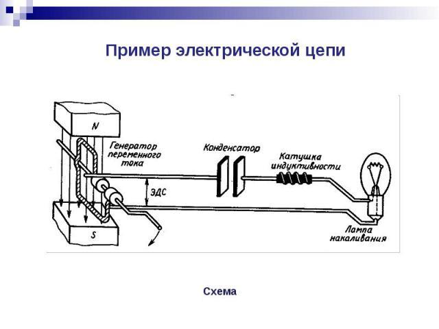 Пример электрической цепи Пример электрической цепи