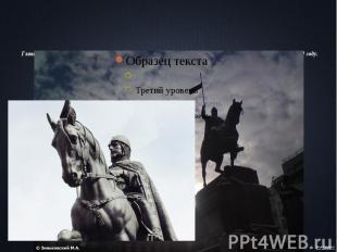 Главная достопримечательность площади— конная скульптура Святого Вацлава,