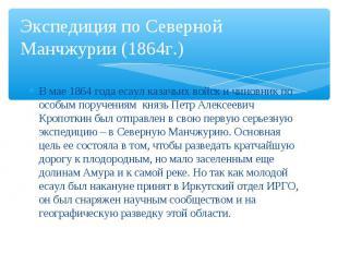 В мае 1864 года есаул казачьих войск и чиновник по особым поручениям князь Петр