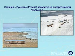 Станция « Русская» (Россия) находится на антарктическом побережье.