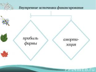 Внутренние источники финансирования прибыль фирмыаморти-зация