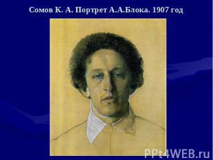 Сомов К. А. Портрет А.А.Блока. 1907 год