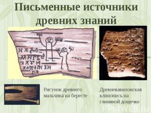 Письменные источники древних знаний Рисунок древнего мальчика на берестеДревнева
